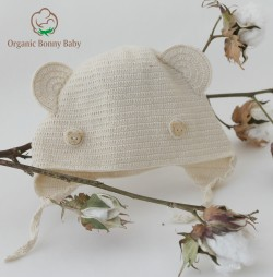 Organic Bonny Baby Kulaklı Şapka