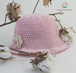Organic Bonny Baby Çiçekli Şapka