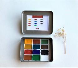 Okra Handmade Watercolors Set/12 Renk/tam Kalıp