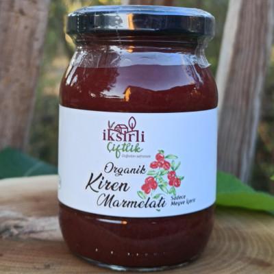Organik Kiren (kızılcık) Marmelatı 190 Gr. (meyve Püreli)