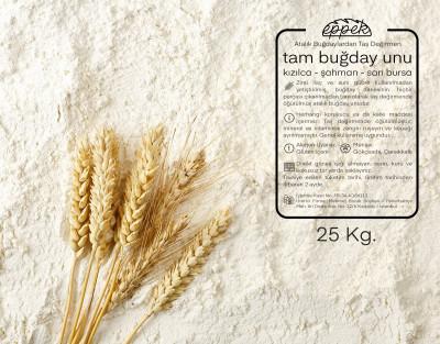 Tam Buğday Unu - 25 Kg. ~ Kızılca&şahman&sarı Bursa Harmanı