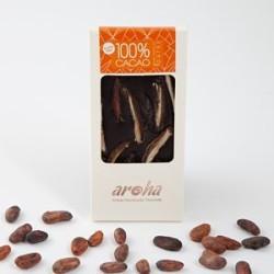 Aroha Hurmalı Simsiyah Çikolata - %100 Kakao 100gr