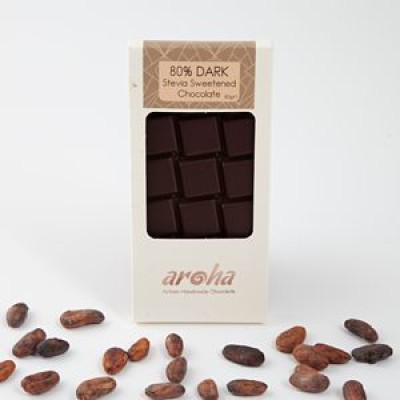 Aroha Stevialı ? Bitter Çikolata (ketojenik) 80gr
