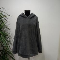 Peluş Gri Sweatshirt