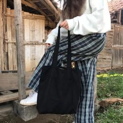 Siyah Bez Çanta