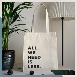 Walker - All We Need Is Less El Yapımı Bez Çanta