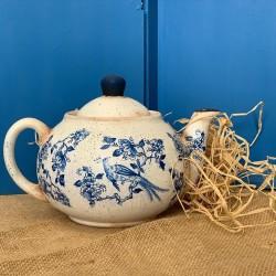 Dekoratif Bleu Blanc Demlik