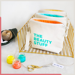 Stuff Renkli - The Beauty Stuff Fermuarlı El Çantası
