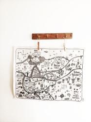 Nunki Haritası (keten Kumaş) 55x70 Cm