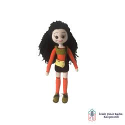 Amigurumi Gür Saçlı Kız Bebek