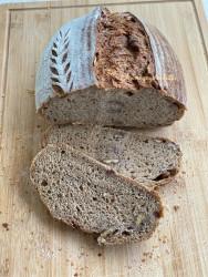 %100 Ekşi Mayalı %100 Tam Buğdaylı Cevizli Ekmek