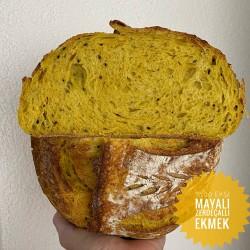 %100 Ekşi Mayalı Zerdeçallı Ve Çörekotlu Ekmek