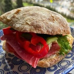 %100 Ekşi Mayalı Ciabatta(italyan Sandviç Ekmeği (4adet)