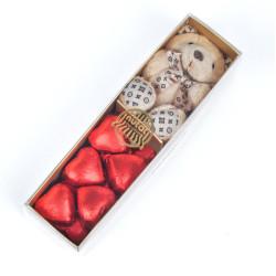 Ayıcık Anahtarlıklı Hediye Kalp Çikolata