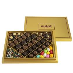 Karışık Spesiyal Çikolata Ve Draje Altın Kutu