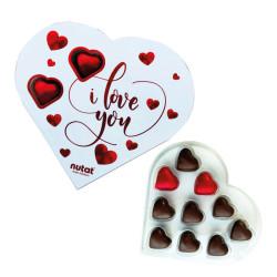 I Love You - Kalp Kutu Çikolata 135 Gr