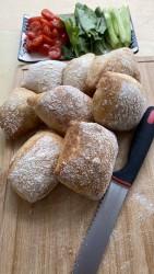 100 Ekşi Mayalı Ciabatta(italyan Sandviç Ekmeği -8 Adet)