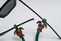 Gözlük Askısı Deri Özel Tasarım Yeşil Askı Kahve Caretta
