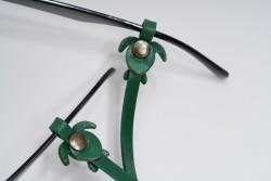 Gözlük Askısı Deri Özel Tasarım Yeşil Askı Yeşil Caretta