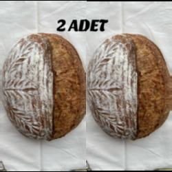 %100 Ekşi Mayalı Tam Buğdaylı Ekmek (2 Adet)