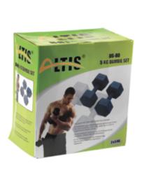Altis Ds80 Plastik Köşeli Dambıl Set 5 Kg*2 Adet