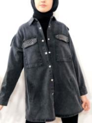 Kot Ceket Zımba Detaylı