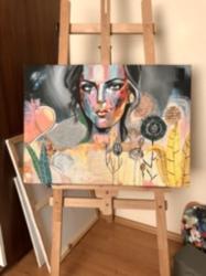 Sanatsal Tablo- Kadın Figürlü Tablo