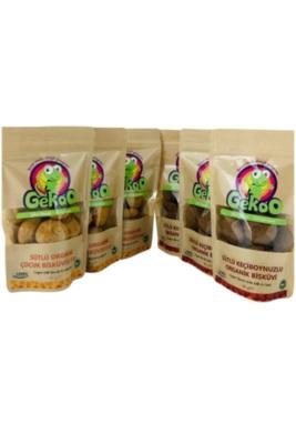 6 Adet Gekoo Organik Bisküvi Karışık Paket 80g