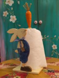 Tavşan Figürlü Kağıt Havluluk