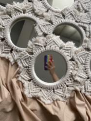 Makrome Dekoratif Ayna