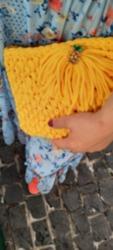 Sarı Örme Çanta