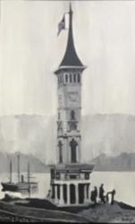 Saat Kulesi Yağlı Boya Tablo