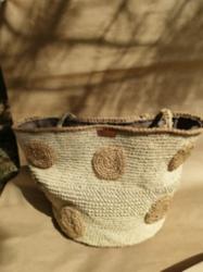 Puantiye Hasır Çanta (shopper Bag )