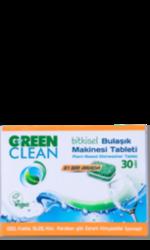 Green Clean Bitkisel Bulaşık Makinesi Tableti 30 Adet/480 Gr