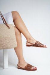 Kadın Sandalet Hakiki Doğal Kösele Deri Tasarım Ortopedik