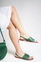 Kadın Sandalet Hakiki Doğal Kösele Deri Özel Tasarım