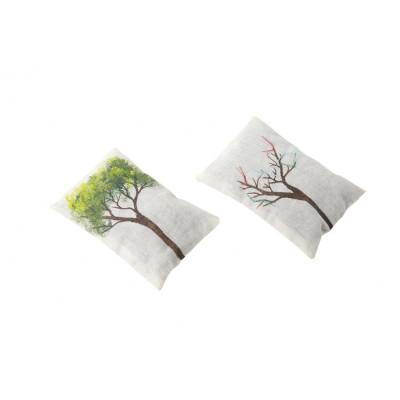 Ağaç Motifli Lavanta Kesesi-ikili Set